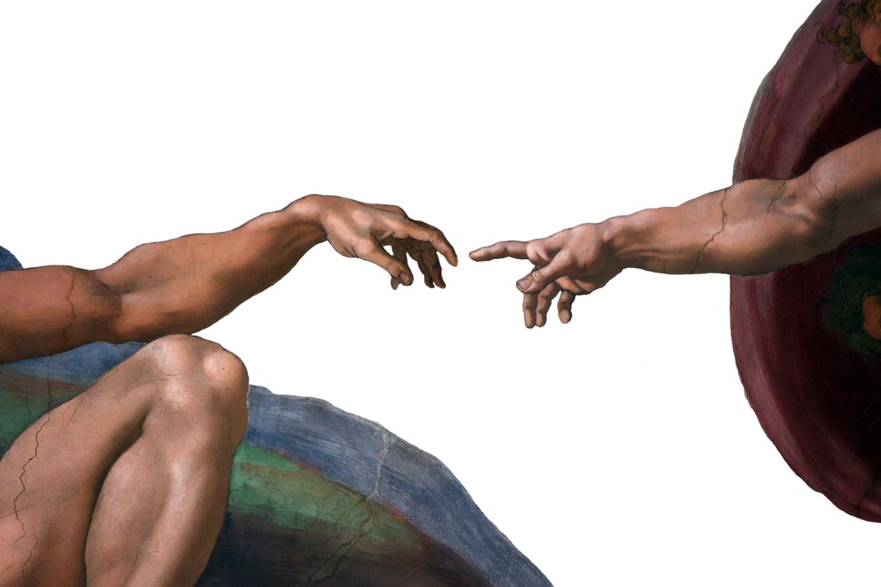 руки тянутся друг к другу картинки без фона воротах рая